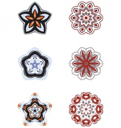 rosettes vector image vector image