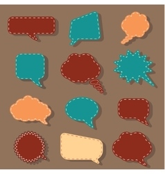 Speech bubbles tag sticker set chat dialog vector image