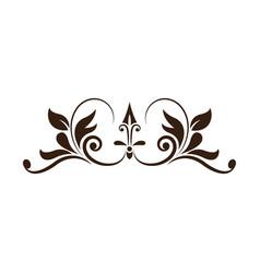 vintage decoration element ornate image vector image vector image