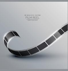 3d camera movie reel background vector