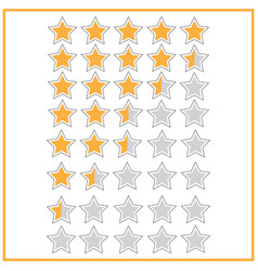 5 star rating icon vector