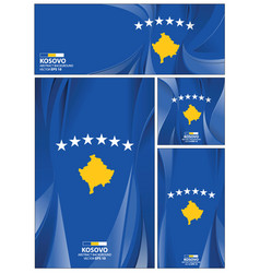 abstract kosovo flag background vector image