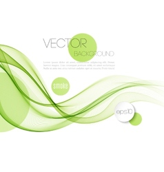 Abstract smoky waves background Template vector image