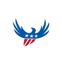 American Eagle Flying USA Flag Retro vector