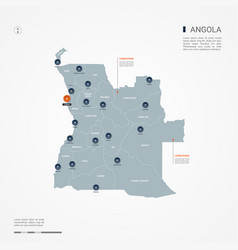 angola infographic map vector image