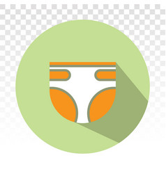 Badiapers adult diaper nappy flat icon vector