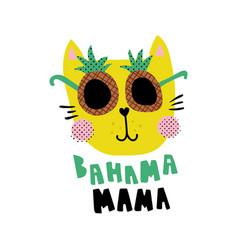 Bahama mama cat vector