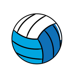 Ball to play volleyball icon vector
