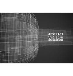 Black Futuristic Wire vector image