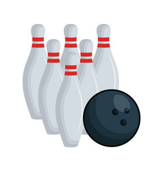 bowling pines isolated icon vector image