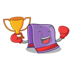 Boxing winner towel for bath mascot vector