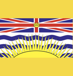 british columbia flag vector image