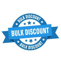 bulk discount ribbon bulk discount round blue vector image
