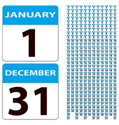 Calender dates vector