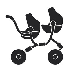 Carriage icon black icon isolated vector