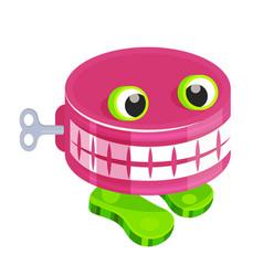 chattery teeth batoy with clockwork mechanism vector image