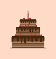 Chocolate cake flat icon vector