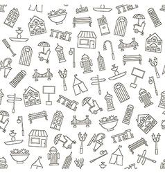 City elements pattern black icons vector