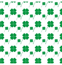 Cloverleaf happy green leaf seamless background vector
