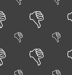 Dislike sign icon Thumb down Hand finger down vector image