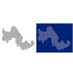 Dot tilos greek island map vector