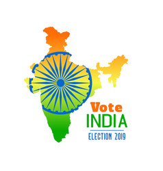election india 2019 banner design vector image