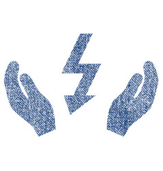 Electrical power maintenance hands fabric textured vector