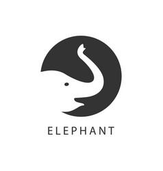 Elephant logo template design vector