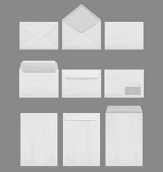Envelope mockup empty blank business elegant vector