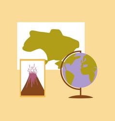 flat icon on stylish background subjects of study vector image
