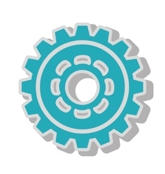 gear wheel team work isolated vector image vector image
