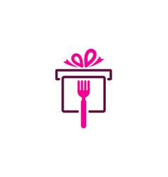 Gift food logo icon design vector