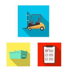 goods and cargo icon vector image