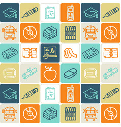 hand drawn icons set - school vector image