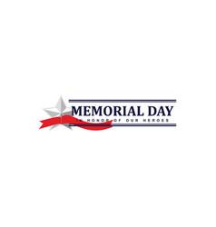 Happy memorial day celebration template design vector