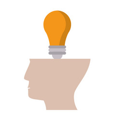 human head idea creative light vector image