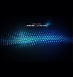 Internet of things background iot technology vector