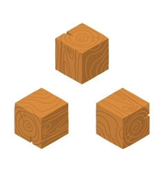 Isometric game brick cubes set vector image