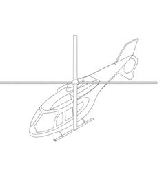 Isometric helicopter icon vector image