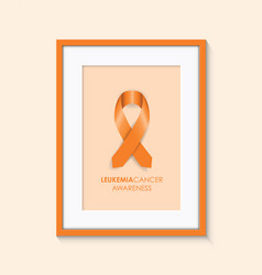 Leukemia cancer awareness vector