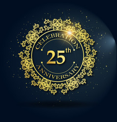Luxury royal 25 wedding anniversary vector