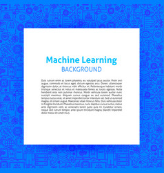 machine learning paper template vector image