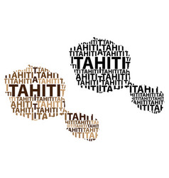 Map of tahiti vector