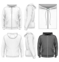 Mens zip hoodie design template vector image