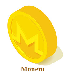 Monero icon isometric style vector