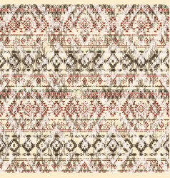 Native american style fabric patchwork wallpaper vector