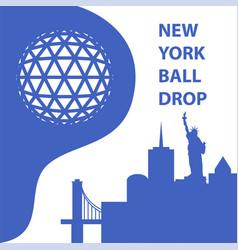 new york ball drop concept vector image