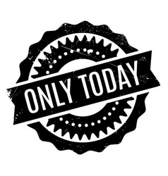 Only today rubber stamp vector