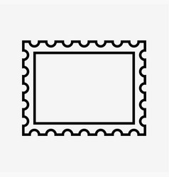 Postage stamp icon vector