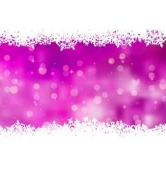 purple snowflakes background vector image